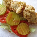 Fried Shrimp and Oyster Po'Boys