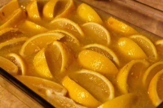 Quick Preserved Lemons right out of the oven