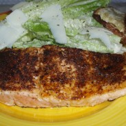 Fish Friday- Blackened Salmon with Caesar Salad