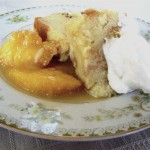 Bread Pudding with Sautéed Peaches – or Pears