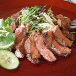 More Summer Grilling Pan Asian Style-Hoisin Marinated Steak Salad with Asian Vegetables