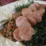Good Luck for the New Year Italian Style-Cotechino and Warm Lentil Salad