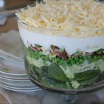 Mom's Seven Layer Spinach Salad-First in an Occasional Series