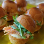 Planked Salmon Sliders with Rosemary Aioli