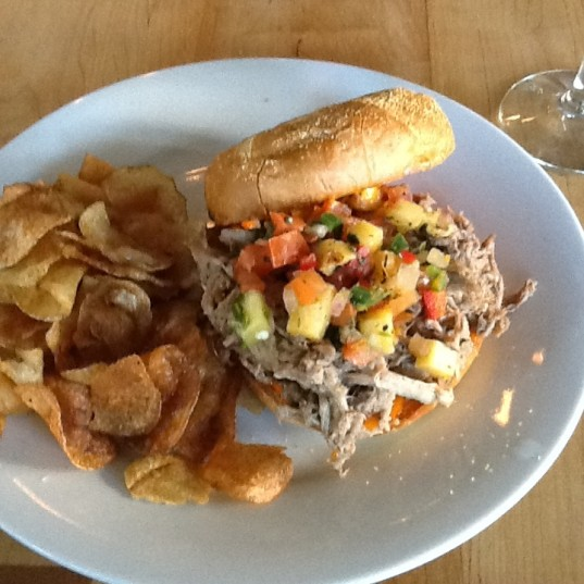 Pulled Pork Sandwich at Toup's Meatery