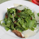Arugula and Roasted Shiitake Salad