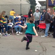 Skipping with a Bead Rope at the Mardi Gras