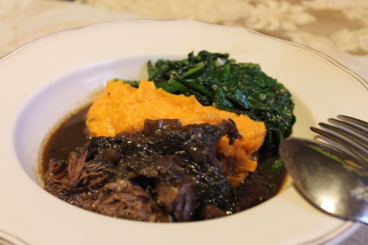 Sweet Potato Puree with Braised Beef