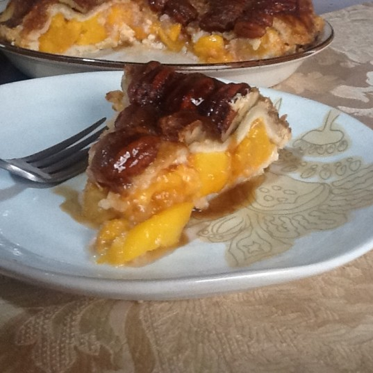 Upside Down Peach Pie
