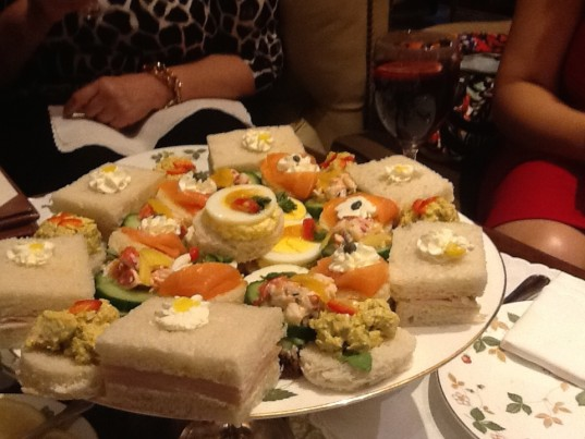 Tea Sandwiches at the Windsor Court
