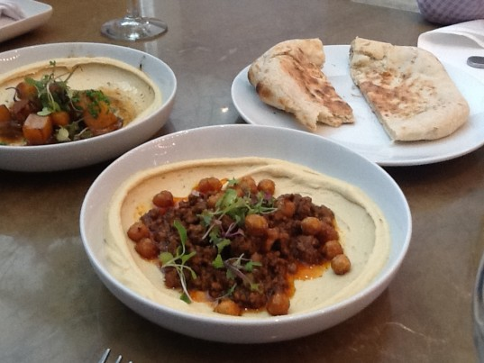 Hummus with Lamb Ragú and Crispy Chickpeas