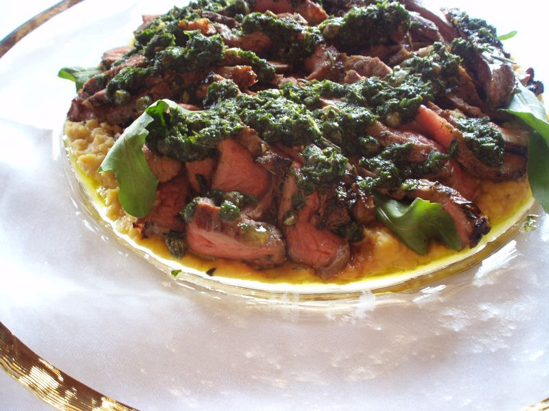 Grilled Tenderloin of Lamb with Salse Verde