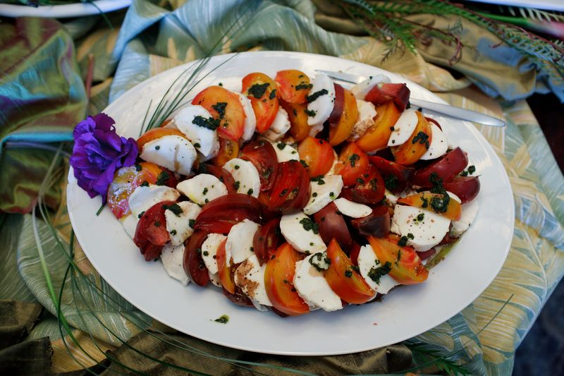 Heirloom Tomatoes and Fresh Mozzarella Salad