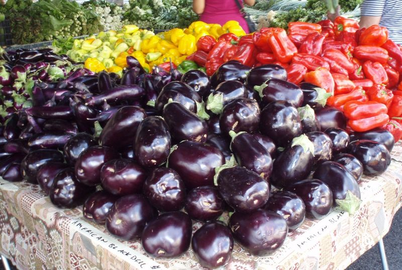 Eggplant and Peppers Cropped
