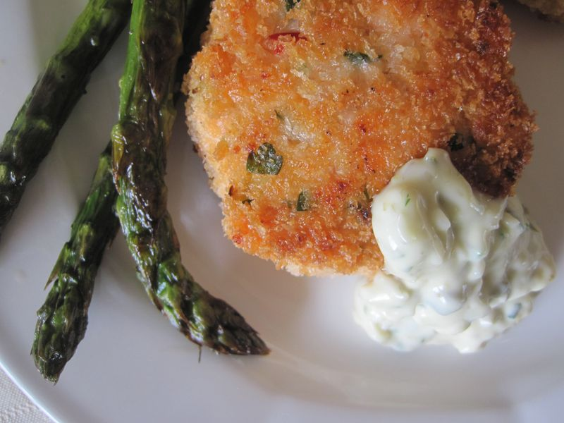 Salmon Cakes Close Up