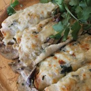 Crepes- First in a Series-Mushroom Stuffed Crepes with Mexican Sabor