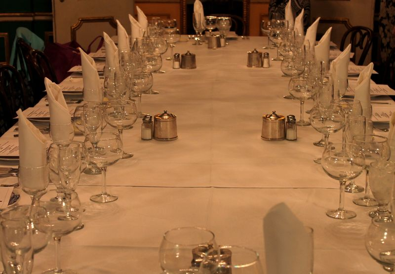 Table Set for Lunch in the Rex Room