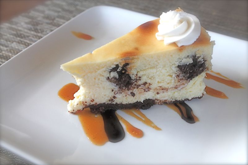 Slice of Brownie Cheesecake