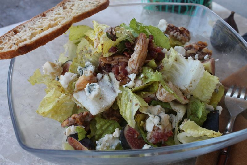 Smoked Chicken and Fig Chopped Salad