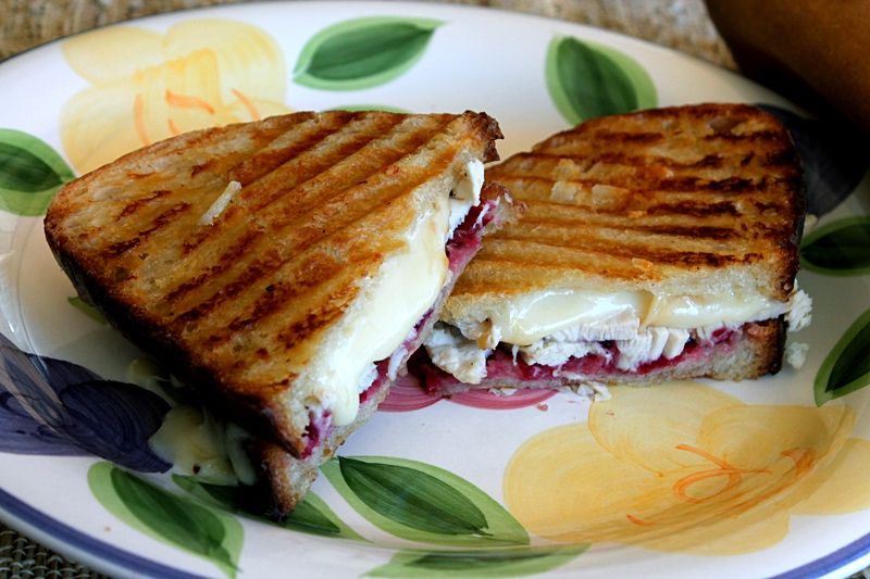 Panini of Turkey and Smoked Jarlsberg with Cranberry Chutney