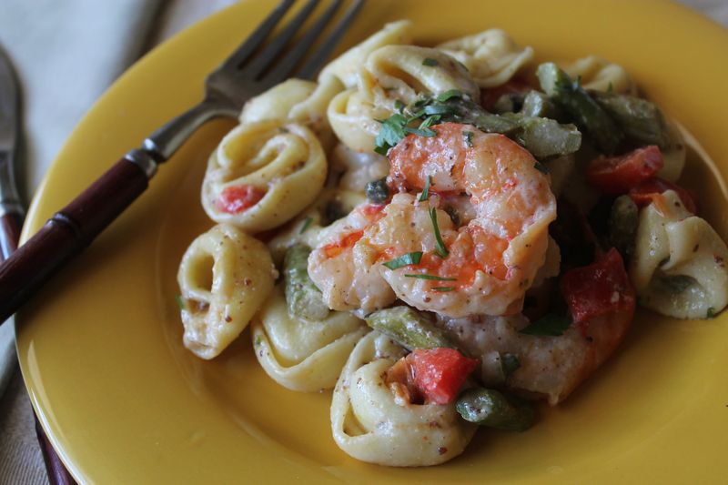Shrimp and Tortellini Salad with Ravigote Sauce